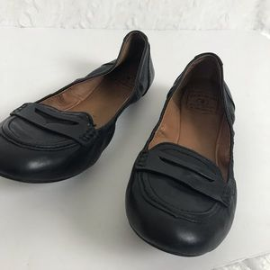 8677b8898 Lucky Brand Shoes - Lucky Brand Black leather ballet penny loafers 10M